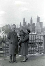 Michael, Harriet and Hallie Og, Brooklyn Heights, 1959